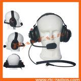 Funksprechgerät hinter dem Haupttypen Hochleistungskopfhörer