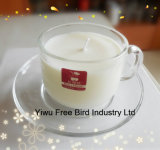 2017 Hot Selling Elegant Aroma Clear Glass Jar Candle