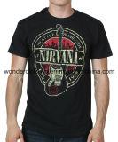 T-shirt rond de vente en gros de coton d'impression de mode de collet de chemise de circuit de l'été des hommes