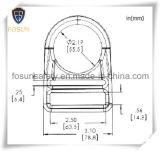 Anillo en D del metal de los accesorios del harness de seguridad (H310D)