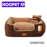Haustier-Bett-Veloursleder-Gewebe-Haustier-Produkt-große Paradies-Kissen-Hundesofa-Luxuxbetten mit Kissen