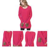Le donne europee di disegno hanno lavorato a maglia il maglione Ew16A-001sho del cachemire