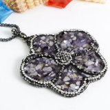 Rinestone를 가진 형식 Gemstone Charm Flower Crystal Pendant