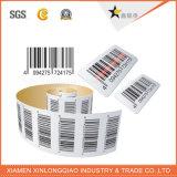 Etiqueta de código de barras de vinilo transparente papel impreso impresión de la etiqueta engomada adhesiva