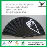 Impressão colorida que dobra o ventilador plástico da mão como o presente relativo à promoção