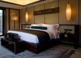 Mobília de madeira feita sob encomenda do quarto do hotel da base do dossel do recurso de cinco estrelas