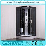 Preiswerte schwarze Glasdampf-Dusche-Kabine (GT0513A)