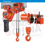 Grua Chain elétrica engrenada elétrica do motor de 1 tonelada com gancho