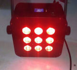 Iluminación sin hilos de la batería delgada cóncava 5in1 DJ de la cubierta