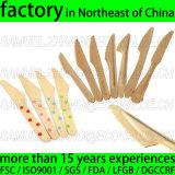 Couverts jetables en bois de bouleau de vente d'usine