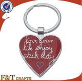Girl (FTKC1824A)를 위한 가장 새로운 Fashionable Enamel Engrave Metal Heart Keychain