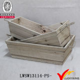 Cadre en bois de planteur de cru fabriqué à la main empilable avec le traitement