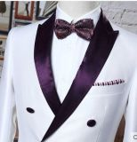 형식적인 남자 한 벌을 Wedding 2개의 단추 줄무늬와 맞을 체중을 줄이십시오