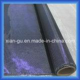 210g 3k Plain telas da fibra do carbono da linha da prata do fio da safira