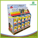 Populäre kundenspezifische Pappladeplatten-Bildschirmanzeige für Supermarkt-Förderung
