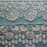 Polyester wasserlösliche Embroideried Hochzeits-Spitze 100%