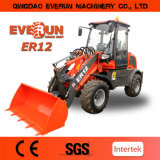 Snow BlowerのEverun BrandのセリウムApproved 1.2 Ton Mini Wheel Loader