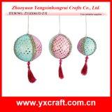 Decoración de Navidad (ZY11S366-DZX) navidad Globe baratos ornamentos de bolas