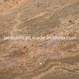 De opgepoetste Natuurlijke Rode Tegels van de Steen van het Graniet voor Vloer, Decoratief Bedekken,