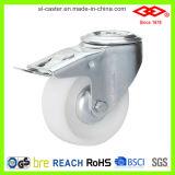 Furo de parafuso do giro com o rodízio industrial de nylon do freio (G102-20D080X35S)