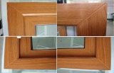 Doppia finestra di legno lustrata di colore del PVC