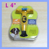 4 Inch Yellow Pet Comb Long Short Hair Removal Deshedding Tool für Large Dogs 51 - 90 Pounds