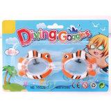 La plongée animale d'été de dessin animé en plastique de jouet badine des lunettes de natation