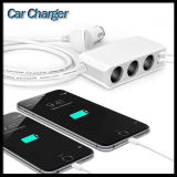 3-Socket Cigarette Lighter adaptador de corriente DC Outlet Splitter 4.8A doble cargador de coche USB