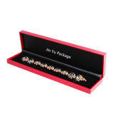Rectángulo de empaquetado de la marca de fábrica del rectángulo de la joyería plástica roja del regalo para el collar