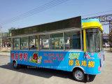 Автомобиль передвижного быстро-приготовленное питания электрический обедая для делать BBQ Teppanyaki Hotpot и горячую сосиску Hamburgar