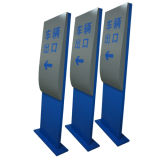 Indoor Metal Steel Carpark Entrée Exit Directional Way Finding Sign