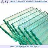 verre à vitres clair recuit transparent de flotteur de 10mm pour la construction/meubles