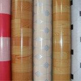 Revestimento do rolo do vinil do PVC do revestimento protetor de feltro do vermelho