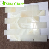 Decorarive Building Material Subway White Onyx Mosaic Basts