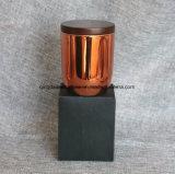 Velas de cobre de cristal del tarro para la decoración del día