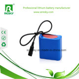 Triángulo recargable 12V 2000mAh Li-ion de la batería para la lámpara de césped, el panel solar