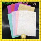 Paypal reçoivent les cartes de relief de la salutation Card/Wedding d'invitation (GC-WD128)
