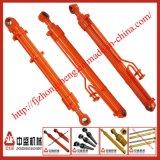Tipo cilindro hidráulico del pistón del brazo del excavador para la maquinaria de construcción