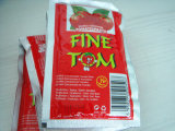 Flaches und stehendes Quetschkissen-Tomatenkonzentrat von 70g