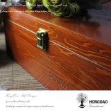 Caja de embalaje del zapato de madera de encargo de Hongdao con la tapa con bisagras Wholesale_L