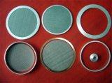 ステンレス鋼フィルターディスクまたはフィルターパネルのための編まれたフィルター金網