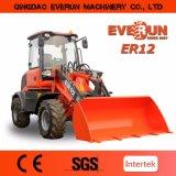 Il piccolo caricatore della rotella da 1.2 tonnellate con la barra di comando elettrica, il legamento rapido, Euroiii e CE ha approvato