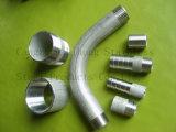 Curva larga inoxidable de la instalación de tuberías de acero DIN2999 del tubo