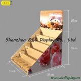 고품질 종이 PDQ는 반대한다 전시, 분홍색 소형 반대 진열대 (B&C-D022)를