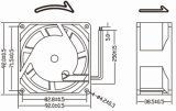 220V AC KoelVentilator 92X92X38.5mm van de Machine van het Lassen