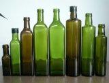 Темно - зеленая бутылка оливкового масла/бутылка оливкового масла стеклянная/крышка бутылки оливкового масла