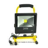 as luzes recarregáveis do projector AC110-240V do diodo emissor de luz de 20W Refletor Waterproof a iluminação ao ar livre