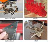 Máquina del laser de la fibra del metal y del no metal de la precisión estable y alta