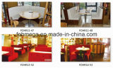 China Wholesale Leather Cafe Booth con Table (FOH-CBCK16)