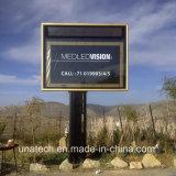 De Achter Horizontale Lichte Doos van de openlucht LEIDENE Unipole van Megacom van de Weg ZonneBanner van het Aanplakbord